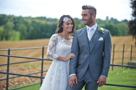 Tailored silver grey mohair suit